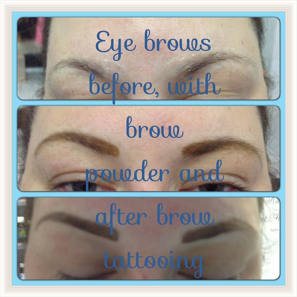 Before and after gallery bodyblisshealth and beauty retreat for Powder eyebrow tattoo